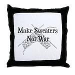 Make Sweaters Not War - Knit Throw Pillow