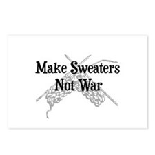Make Sweaters Not War - Knit Postcards (Package of