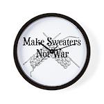 Make Sweaters Not War - Knit Wall Clock