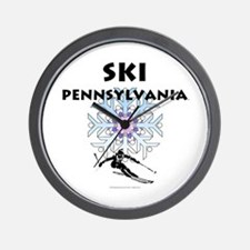 Ski Pennsylvania Wall Clock