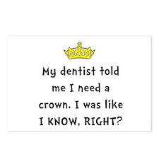 Dentist Crown Postcards (Package of 8)