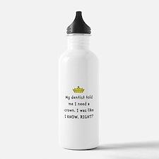 Dentist Crown Water Bottle
