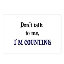 Don't Talk To Me - I'm Counti Postcards (Package o