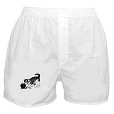 Kitten with Yarn Boxer Shorts