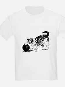 Kitten with Yarn Kids T-Shirt