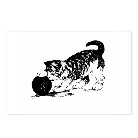 Kitten with Yarn Postcards (Package of 8)