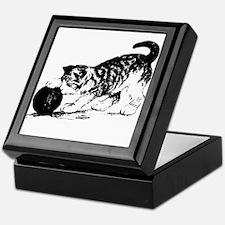 Kitten with Yarn Keepsake Box