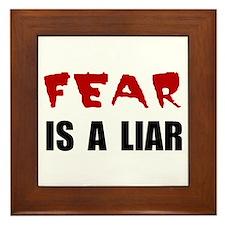 Fear Liar Framed Tile