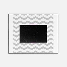 Pink and Grey Monogram Chevron Picture Frame