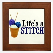 Knitting - Life's a Stitch Framed Tile