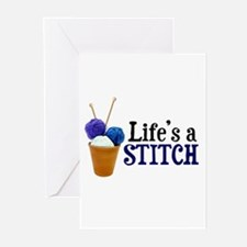 Knitting - Life's a Stitch Greeting Cards (Package