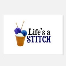 Knitting - Life's a Stitch Postcards (Package of 8
