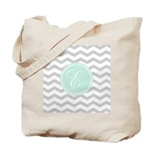Gray monogram Chevron Tote Bag
