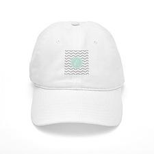 Gray monogram Chevron Baseball Cap