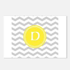 Grey Chevron Monogram Postcards (Package of 8)