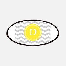 Grey Chevron Monogram Patches