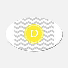 Grey Chevron Monogram Wall Sticker