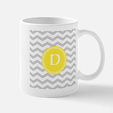 Grey Chevron Monogram Mugs