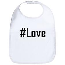 Hashtag Love Bib