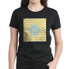 Monogram yellow chevron T-Shirt