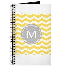 Yellow Chevron Monogram Journal