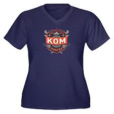 KOM Hunter Women's Plus Size V-Neck Dark T-Shirt