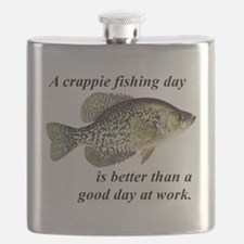 Crappie Fishing Day Flask