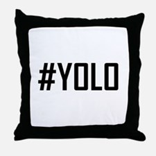 Hashtag YOLO Throw Pillow