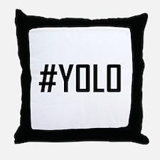 Hashtag YOLO Throw Pillow