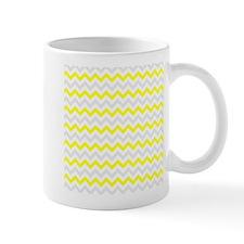 Yellow and Grey Zig Zags Mugs