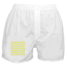 Yellow and Grey Zig Zags Boxer Shorts