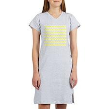 Yellow and Grey Zig Zags Women's Nightshirt