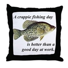 Crappie Fishing Day Throw Pillow