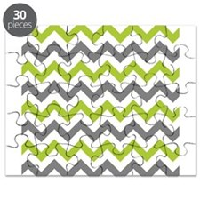 Green and Grey Chevron Puzzle