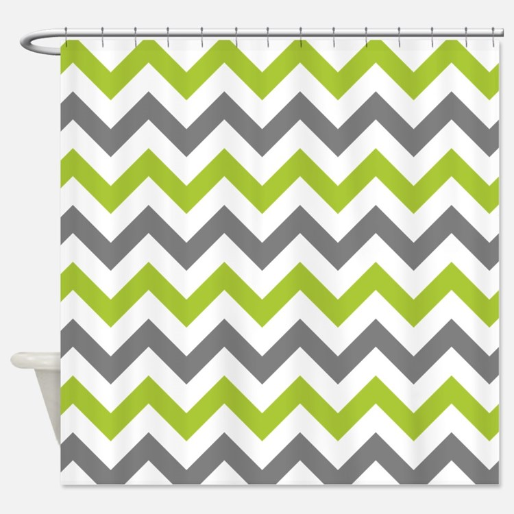 Lime Green And Gray Shower Curtains | Lime Green And Gray Fabric ...