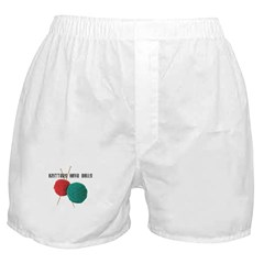 Knitters have Balls Boxer Shorts