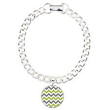 Green and Grey Chevron Bracelet