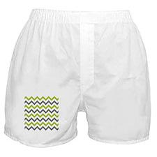 Green and Grey Chevron Boxer Shorts