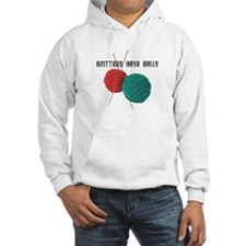 Knitters have Balls Hoodie