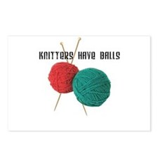 Knitters have Balls Postcards (Package of 8)