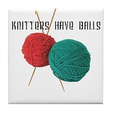 Knitters have Balls Tile Coaster