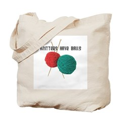Knitters have Balls Tote Bag