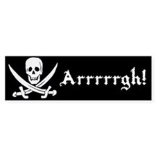 Arrrrrgh! Jolly roger pirate bumper sticker