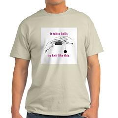 Knit - It Takes Balls Ash Grey T-Shirt