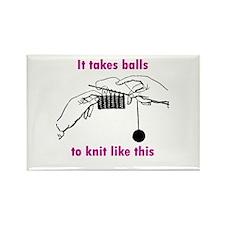 Knit - It Takes Balls Rectangle Magnet