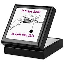 Knit - It Takes Balls Keepsake Box
