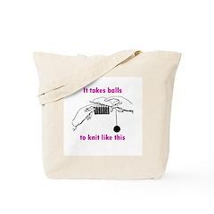 Knit - It Takes Balls Tote Bag