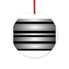 Monochrome Stripes Ornament (Round)