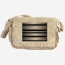 Monochrome Stripes Messenger Bag