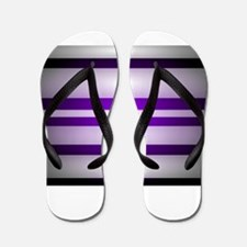 Purple Light Flip Flops